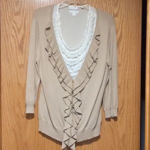 New York & company sheer blouse and sweater